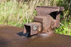 Old rusty vise Royalty Free Stock Photo