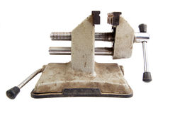 Old rusty vise tool. Isolated Royalty Free Stock Photography