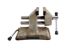 Old rusty vise tool Royalty Free Stock Photos