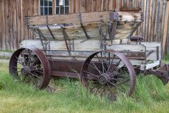 An Old Wagon in Bodie, California stock photo