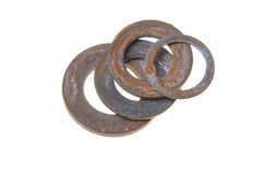 Old rusty washers Royalty Free Stock Image