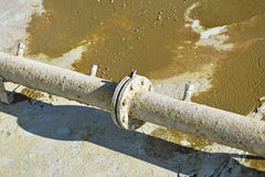 Old rusty water pipeline Stock Photos