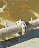 Old rusty water pipeline Stock Photography