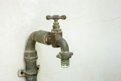 Old rusty water tap Stock Images