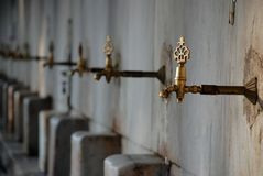 Old rusty water tap dripping Stock Photos