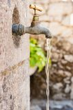 Old rusty water tap Royalty Free Stock Images