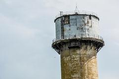 Old rusty water tower Royalty Free Stock Images