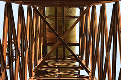 The old rusty water tower tilted Royalty Free Stock Photos