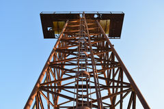 The old rusty water tower tilted Stock Photography