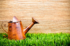 Old and rusty watering can Stock Photography