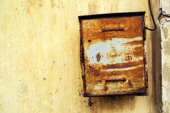 Old rusty weathered mailbox Stock Image