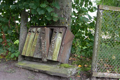 Old rusty weathered mailboxes. Roadside, rural village Royalty Free Stock Photo