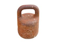 Old rusty weight Royalty Free Stock Photo