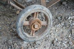 Old rusty wheel cart Royalty Free Stock Photo