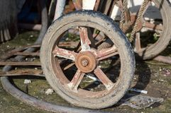 Old rusty wheel cart Stock Photography