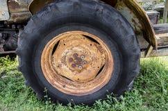 Old rusty wheel nuts texture Stock Photo