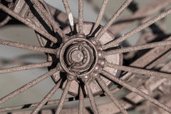Old rusty wheel - Selective focus Royalty Free Stock Image