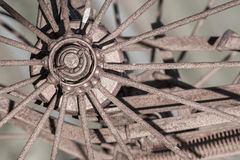 Old rusty wheel - Selective focus Royalty Free Stock Photo