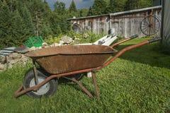 Old rusty wheelbarrow Royalty Free Stock Photo