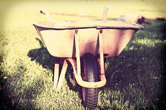 Old rusty wheelbarrow Stock Photography
