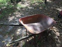 Old rusty Wheelbarrow royalty free stock photos