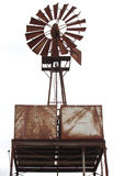 An old rusty windmill. An old water windmill, rusted with age Royalty Free Stock Photography