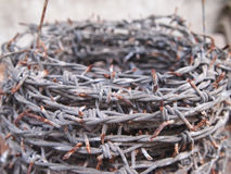 Old rusty wire. Caused a long lifespan Stock Photo