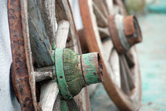 Old rusty wooden wheel Royalty Free Stock Images