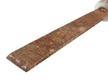 Old and rusty work file. Royalty Free Stock Photo
