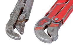 Old rusty wrench Stock Image