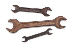 Old rusty wrench Stock Photos