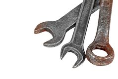 Old rusty wrench Royalty Free Stock Image
