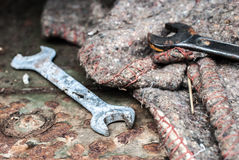 Old rusty wrenches Stock Photography