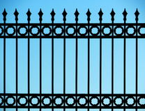 Old and rusty wrought iron fence Royalty Free Stock Photography