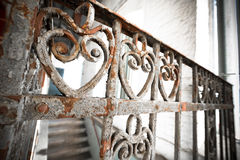 An old rusty wrought-iron railing Royalty Free Stock Images