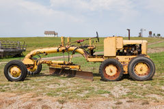 Old Yellow Farm Tractor Royalty Free Stock Images
