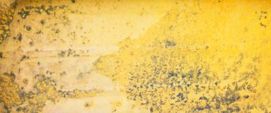 Old and rusty yellow metal texture royalty free stock images