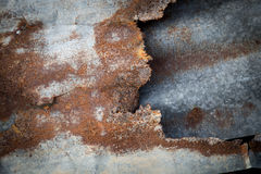 Old rusty zinc background. Royalty Free Stock Image