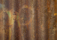 Old  rusty zinc plat wall Royalty Free Stock Photos