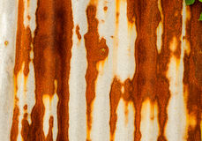 Old rusty of zinc sheet  fence is grunge  background. Old rusty of zinc sheet  fence is grunge  background around the home Stock Images