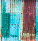 Old rusty zinc sheet texture and surface royalty free stock photography