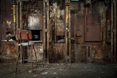 Old rusty zinc smelter furnace. Stock Photos