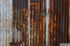 Old rusty zinc wall Stock Images
