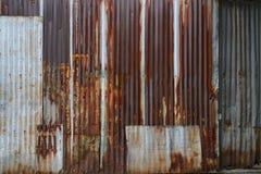 Old rusty zinc wall Stock Photos