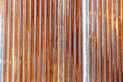 Old rusty zinc wall for textured background, Tin roof abstract r Stock Photo