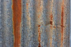 Old rusty zine sheet texture background Royalty Free Stock Photo