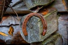 Old ruusty horseshoe Stock Image