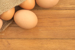 Old sack of eggs Royalty Free Stock Image
