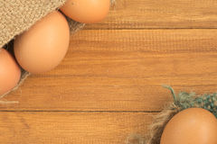 Old sack of eggs Royalty Free Stock Photo