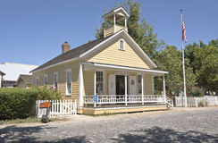 Old Sacramento schoolhouse museum. Old Sacramento township schoolhouse museum California Stock Image
